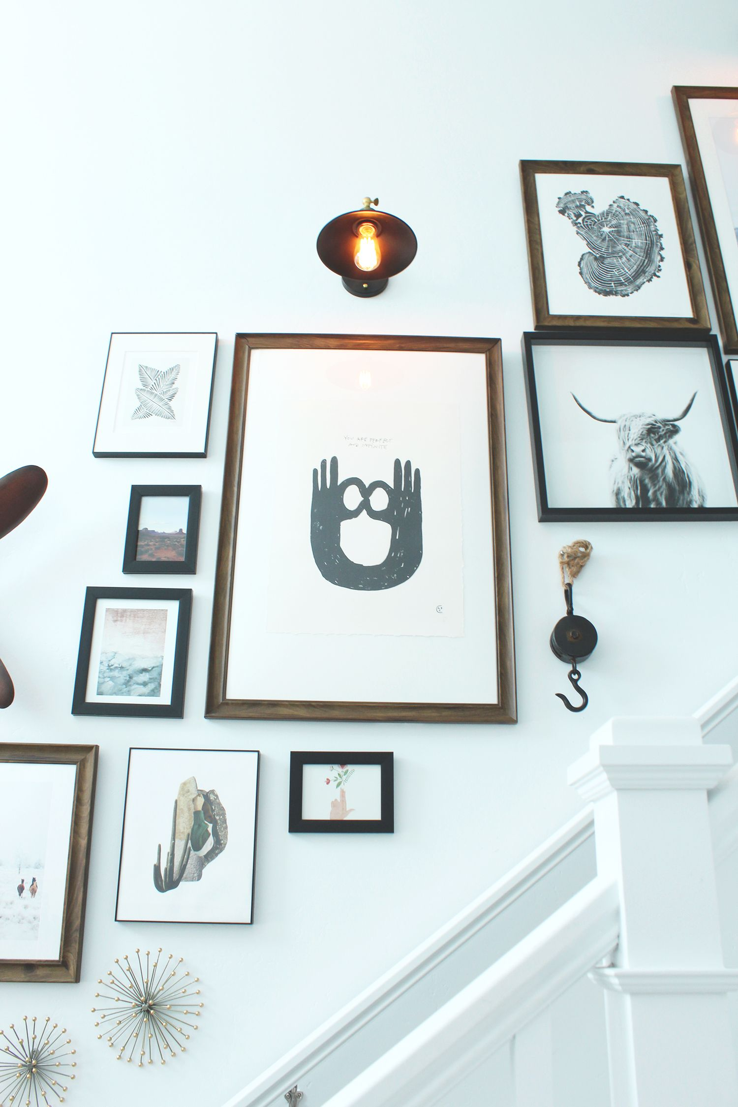 A design bloggers 4 tips for creating an incredible gallery wall
