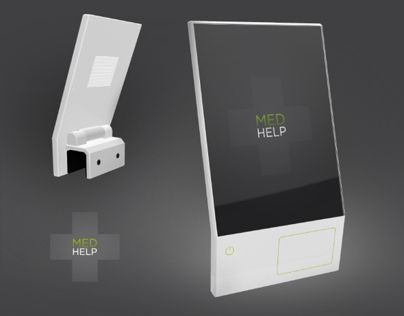 MED HELP is a monitor that attaches to the end of hospital beds to help doctors and nurses keep tabs on medication given to their patients.