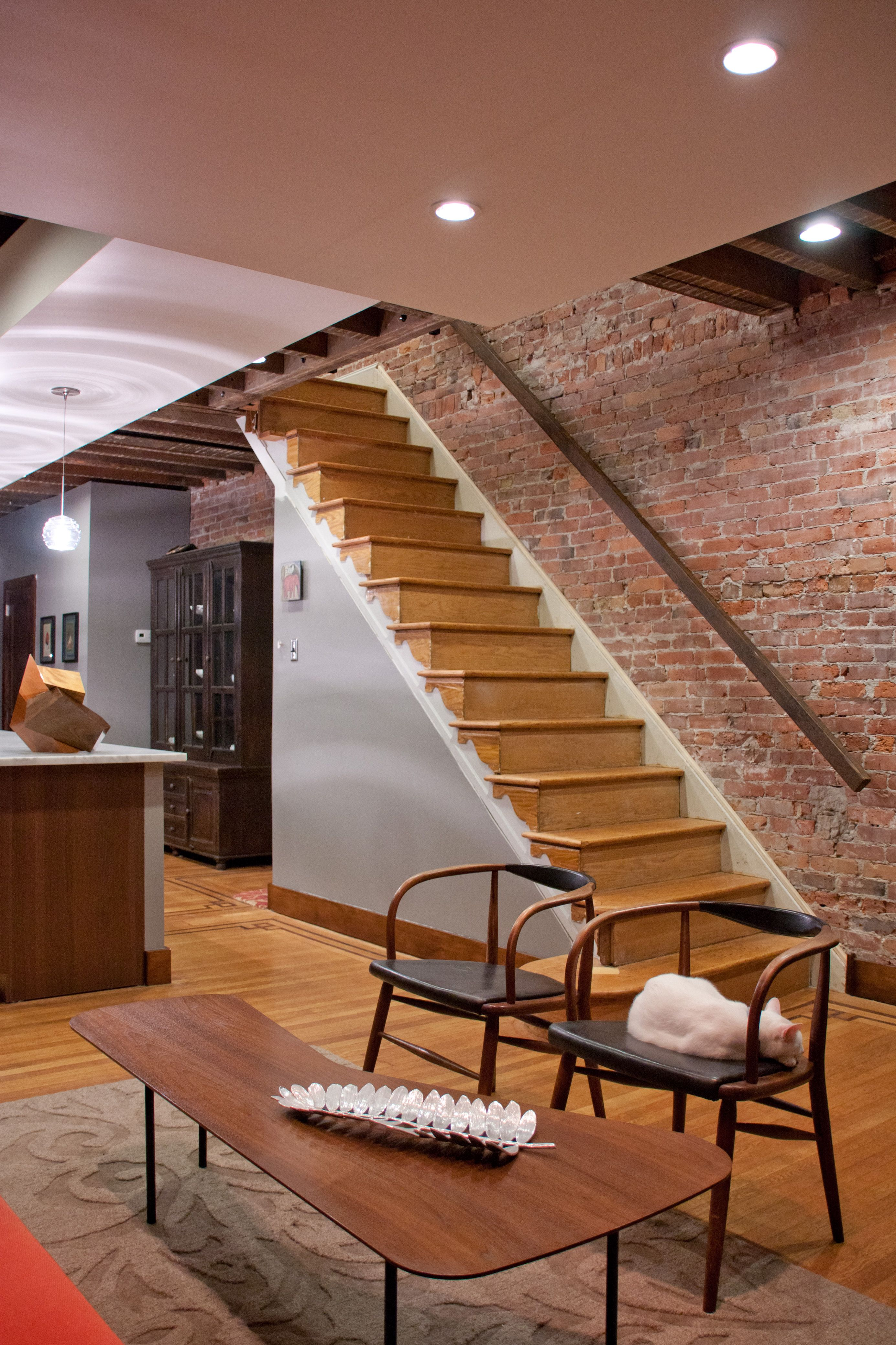 stairs and exposed brick - http://unitedmakers.com
