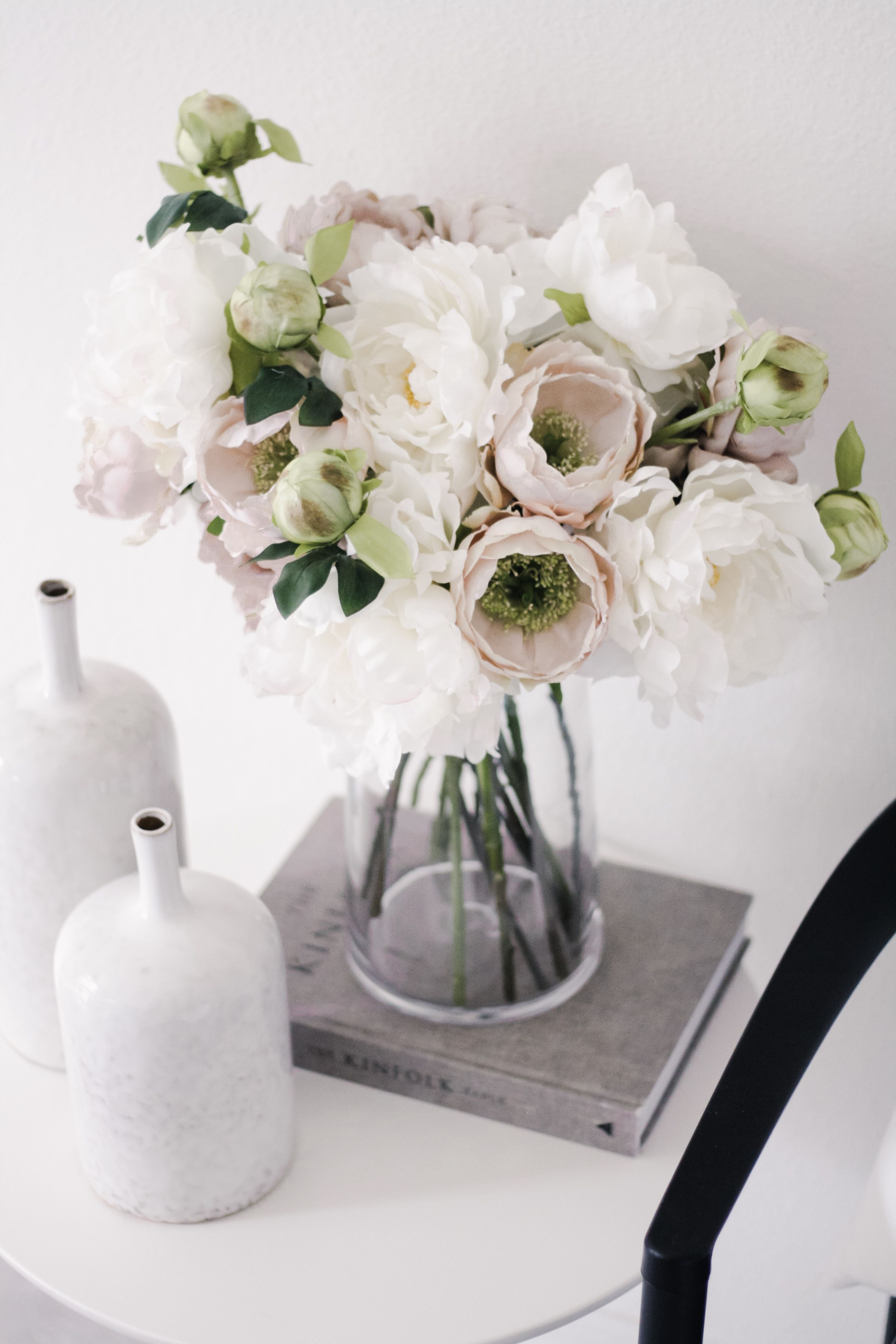 White Artificial Peony Flower 30 Tall In 2020 Fake Flower Arrangements Fake Flowers Decor Fake Flowers Arrangements