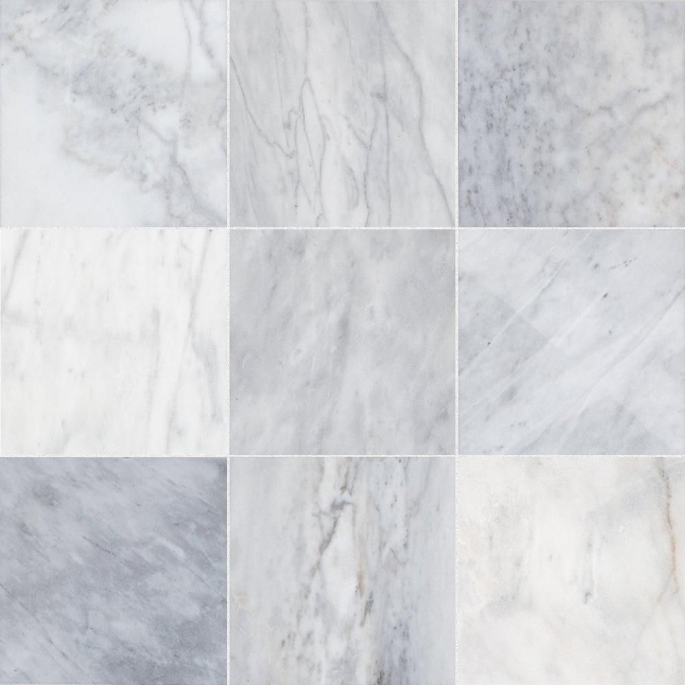 Ocean Silver Marble Tile Floor Decor In 2020 Marble Tile Honed Marble Tiles Marble Tile Floor