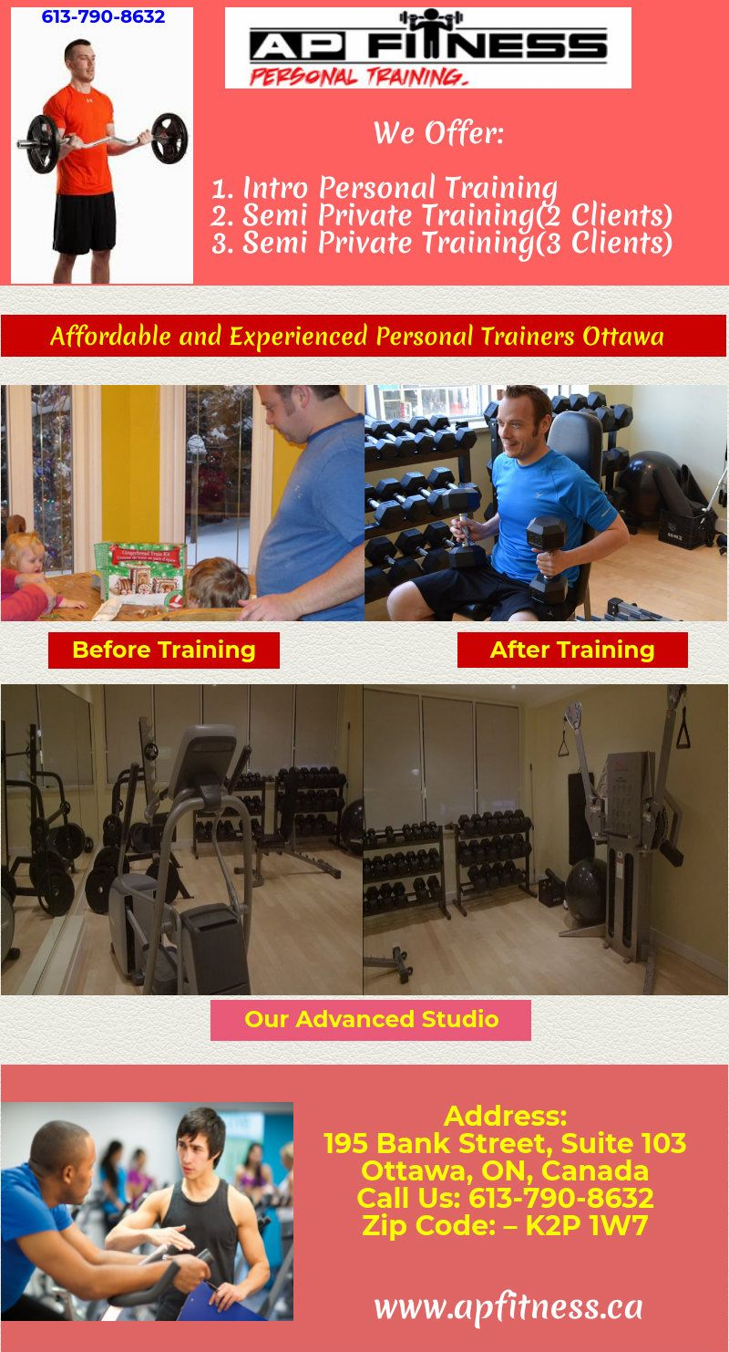 Get 1 On 1 Personal Training Sessions For Your Fitness Exercise And Workouts In Ottawa Call At 61 Personal Fitness Trainer Workout Results Personal Training