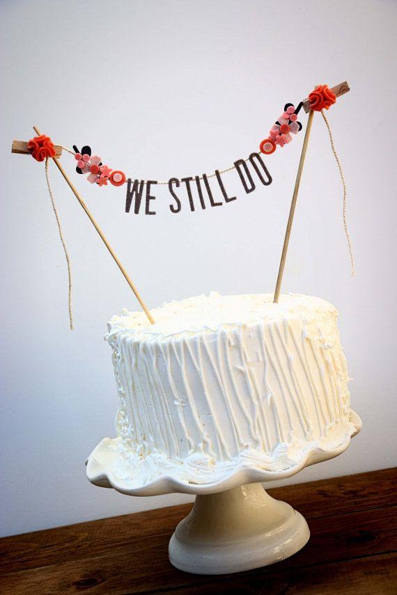 Wedding Cake Banner Wedding Cake Topper by pipsqueakandbean ...