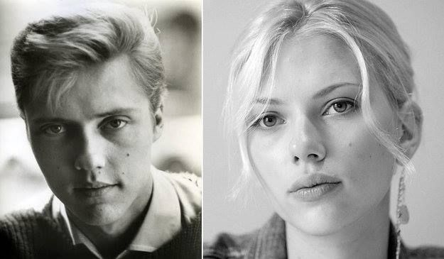 Young Christopher Walken looked like Scarlet Johanson - funny coincidence
