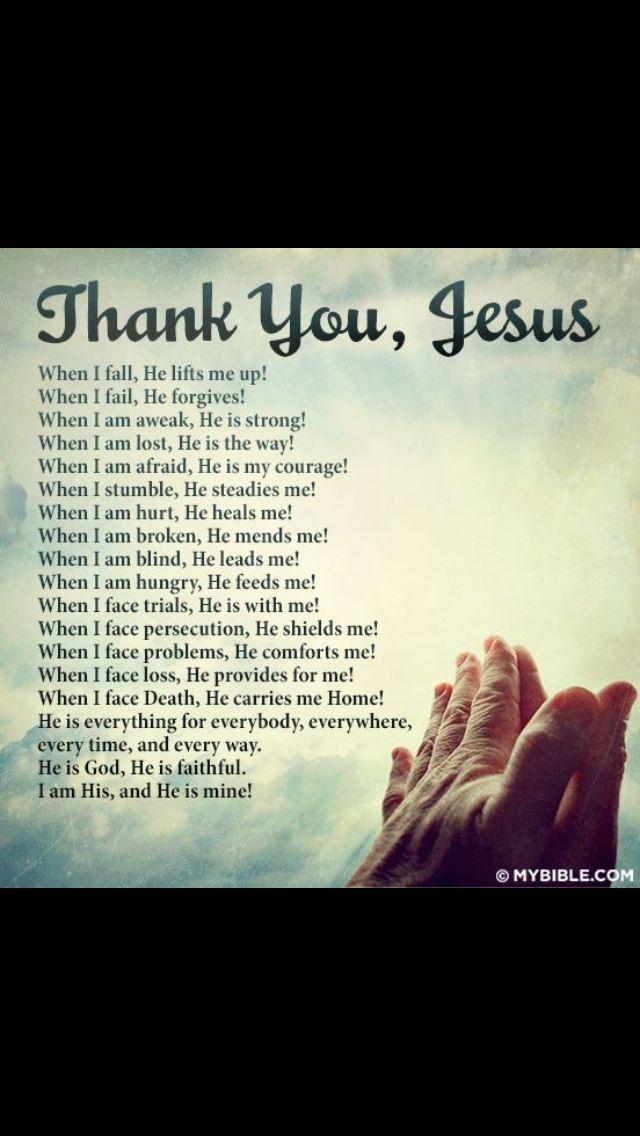 Thank you Jesus   God   Thank you jesus, Spiritual quotes