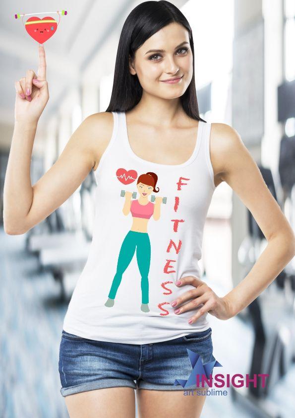 f6543e5751 Regata Feminina Fitness. Tecido em malha 100% poliéster