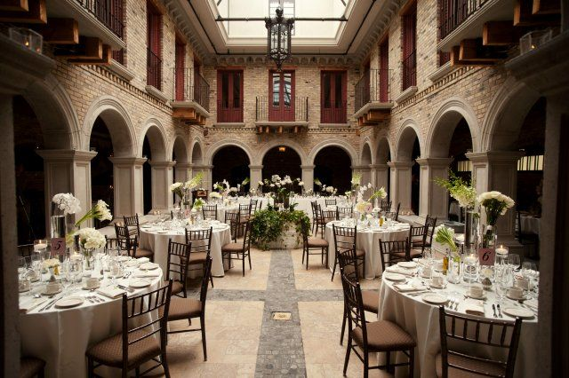 Wedding Reception In Hacienda Sarrias Indoor Courtyard This Idea Would Be Great To Use