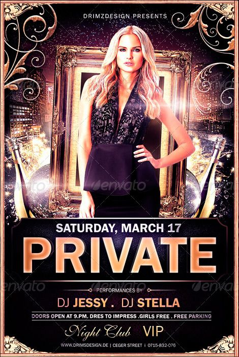 Luxury Private Party Flyer Template Httpffflyerluxury