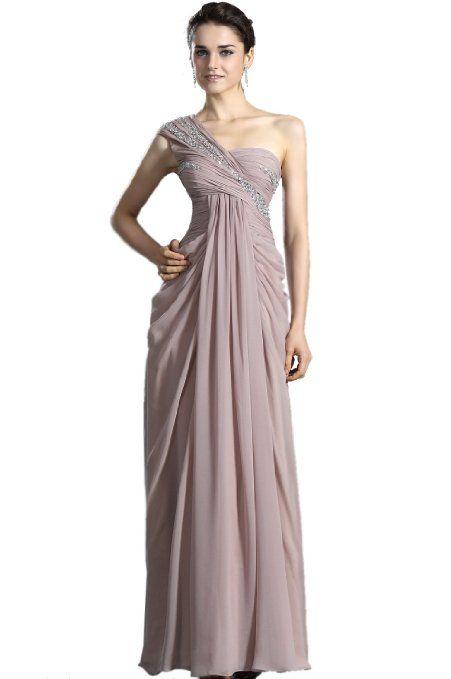 Amazon Com Edressit On Sale One Shoulder Beaded Bodice Evening Dress 00122346 Clothing Dresses Pretty Dresses Formal Evening Dresses