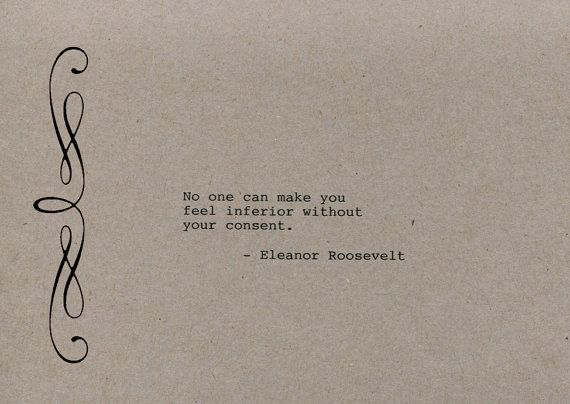One Line Art Quotes : Eleanor roosevelt quote made on typewriter art wall no