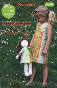 Peace Out Dress & Matching Doll Dress by Olive Ann Designs