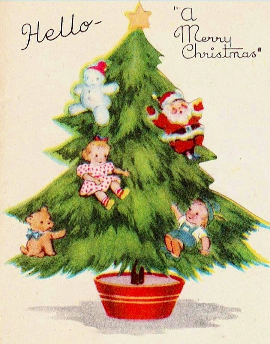 Vintage Christmas card.                                                                                                                                                                                 More