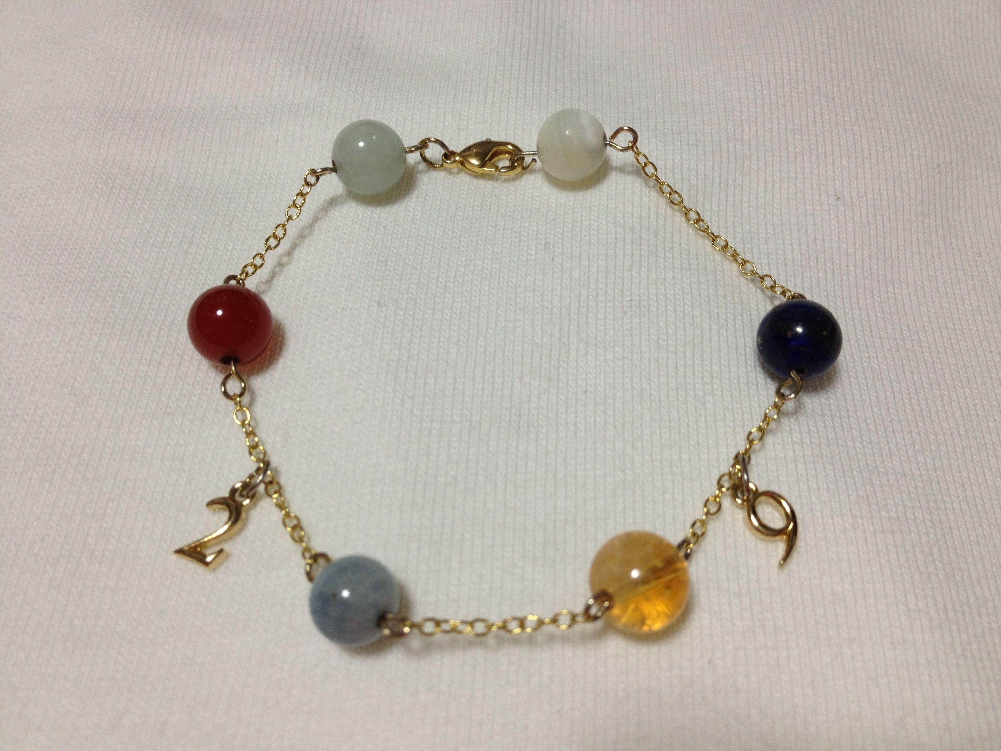 29/Shogo -A hand made bracelet with 2&9 charms!