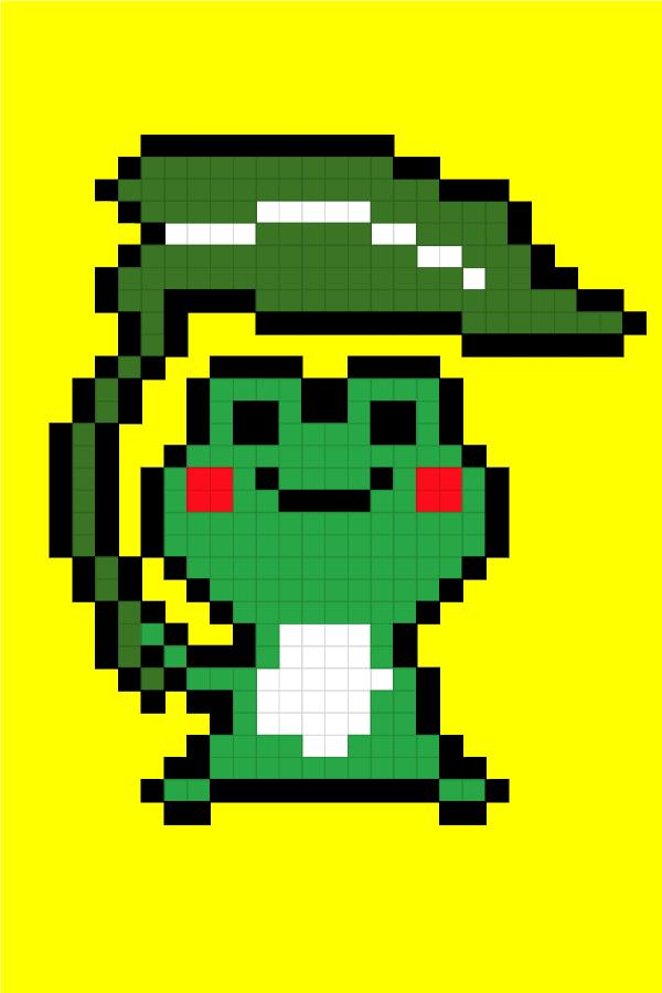 Easy Pixel Art Frog Pixel Art Facile Une Grenouille Easy Pixel Art Frog Pixel Art Pixel Art