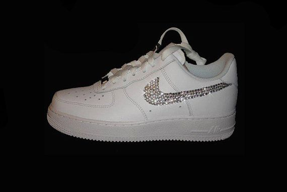 Custom Bling Crystal Nike Air Force One White Air Force 1 b99f63e490ea