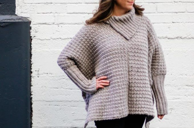 Crochet Poncho With Sleeves - Free Pattern Made From Easy ...