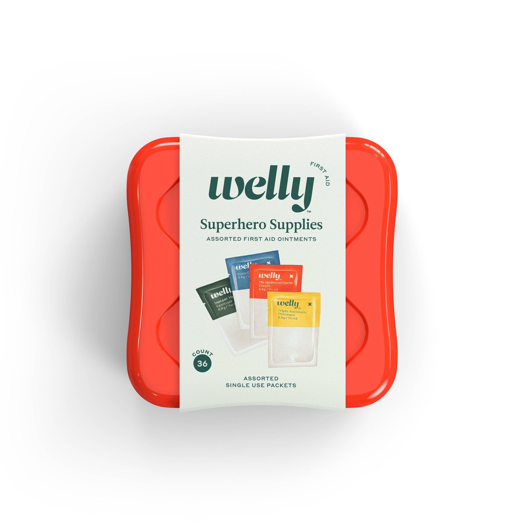 Welly Superhero Supplies Assorted Ointment First Aid Kit 36ct