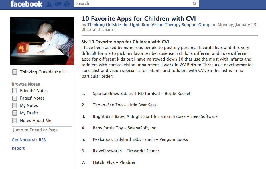 10 Favorite Apps for Children with CVI  by Thinking Outside the Light-Box: Vision Therapy Support Group
