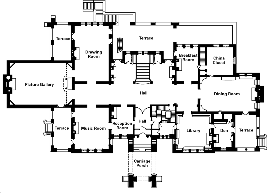 First Floor Historic Sites Minnesota Historical Society House On A Hill Architectural Floor Plans English Country House Plans