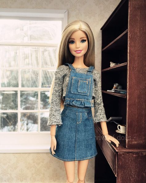#handmade #barbiestyle #barbiedoll #barbieclothes #dollclothes #dollfashion #danim #dress #totallook #barbie #barbies #barbiefurniture