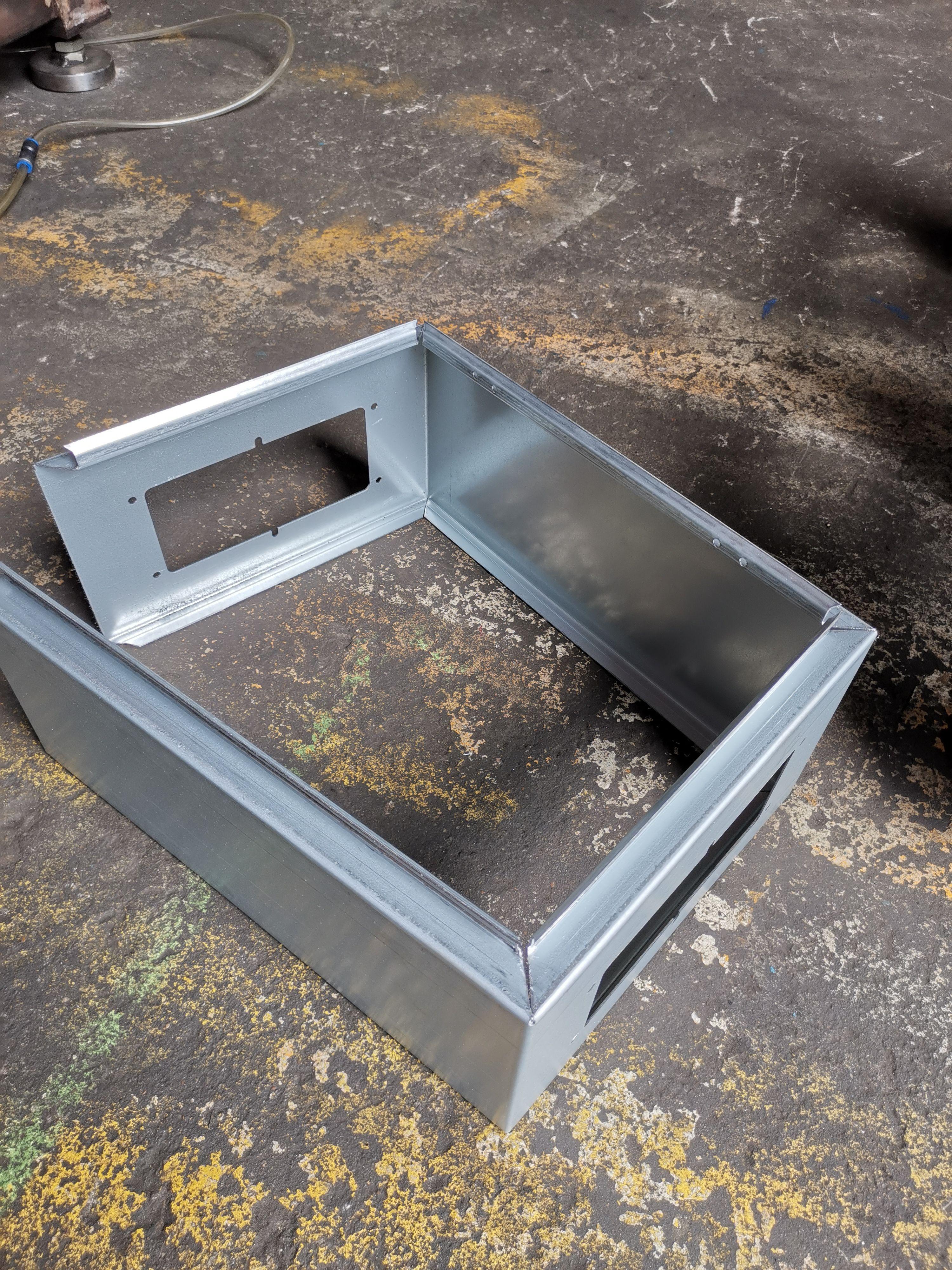 Electrical Box Panel Bending In 2020 Metal Sheet Metal Working Control Panels