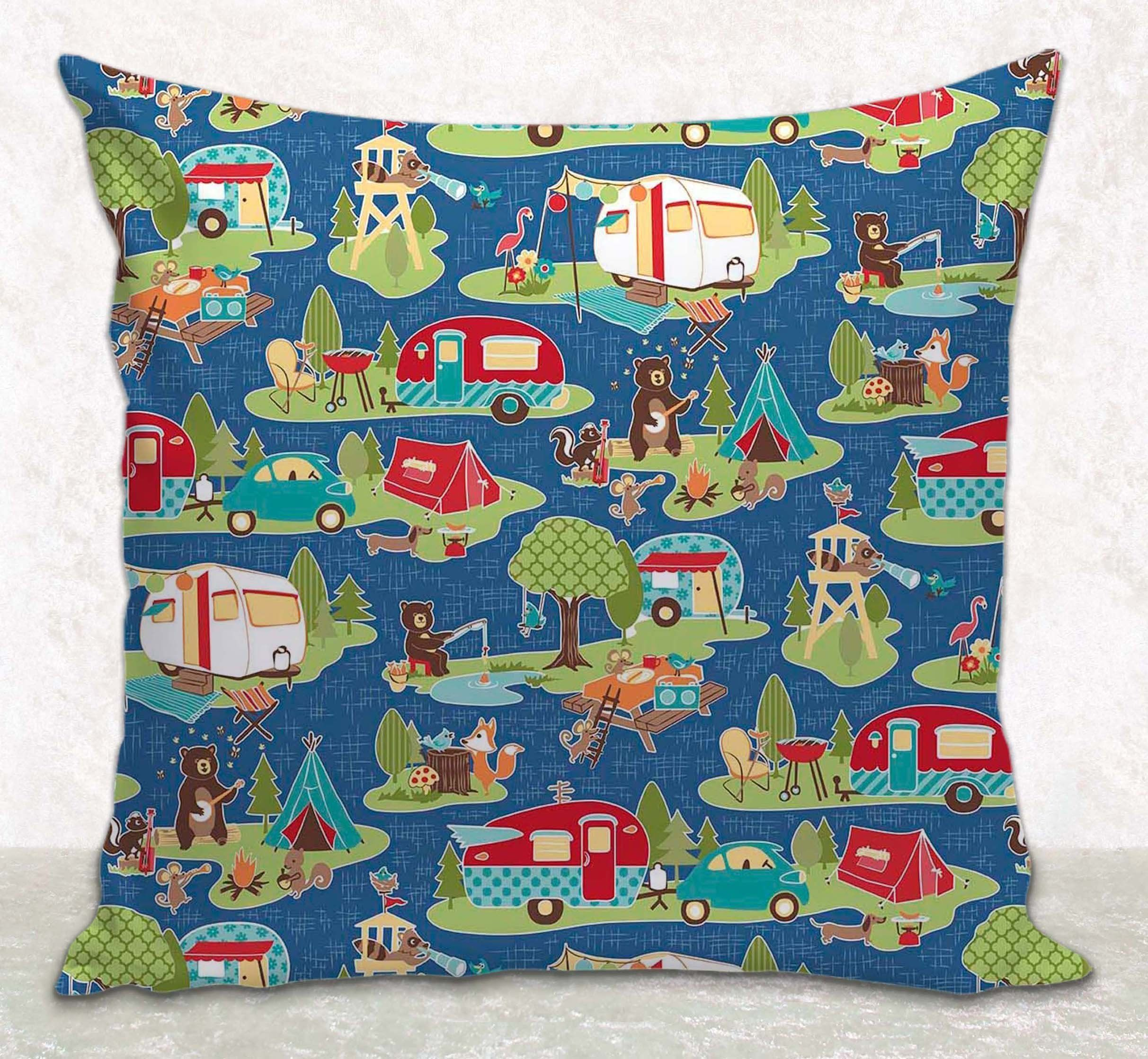 Throw pillow cover cushion cover rv camping décor fits