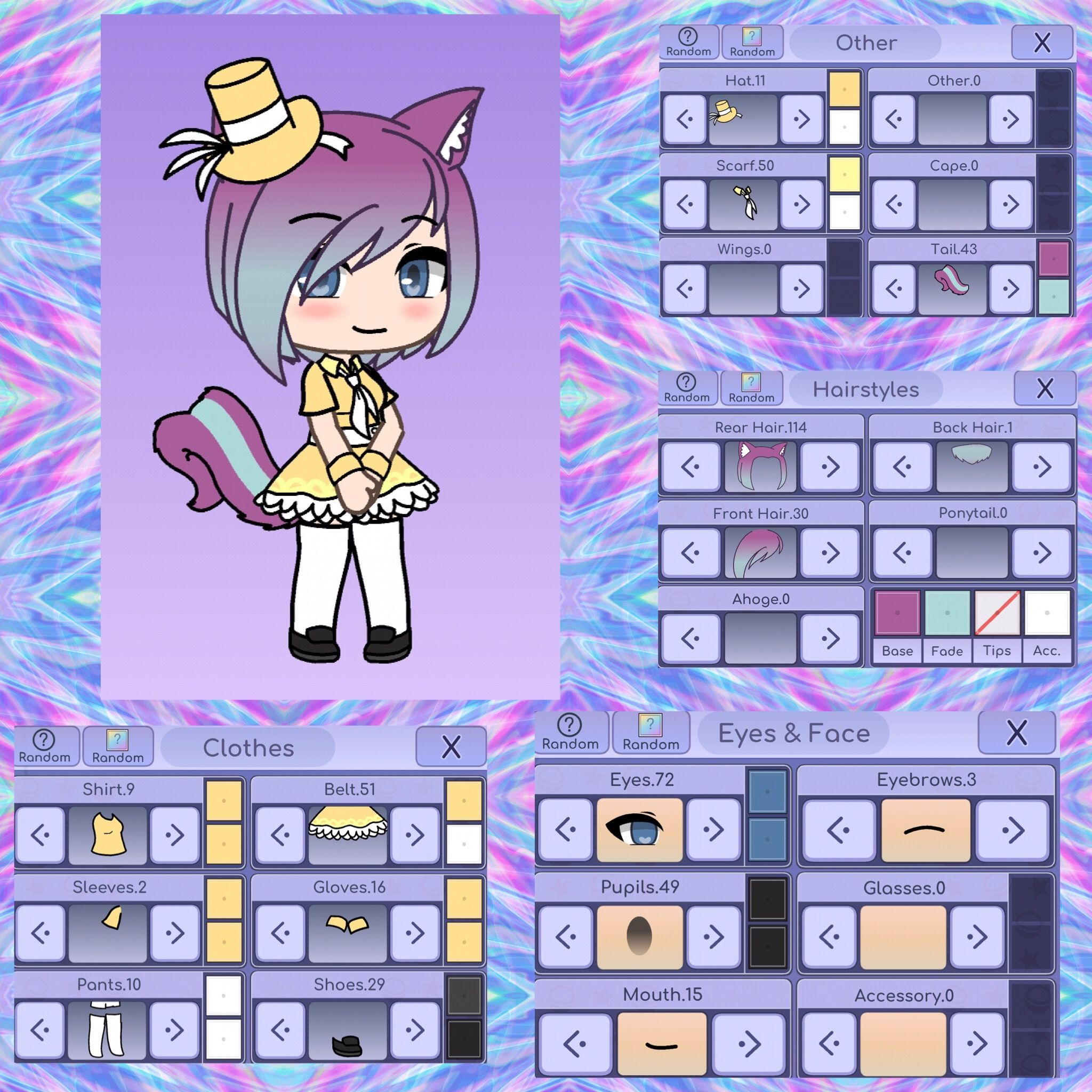 Pin By Little Orca On Gacha Outfits Character Outfits Cute Wallpaper Backgrounds Cute Anime Chibi