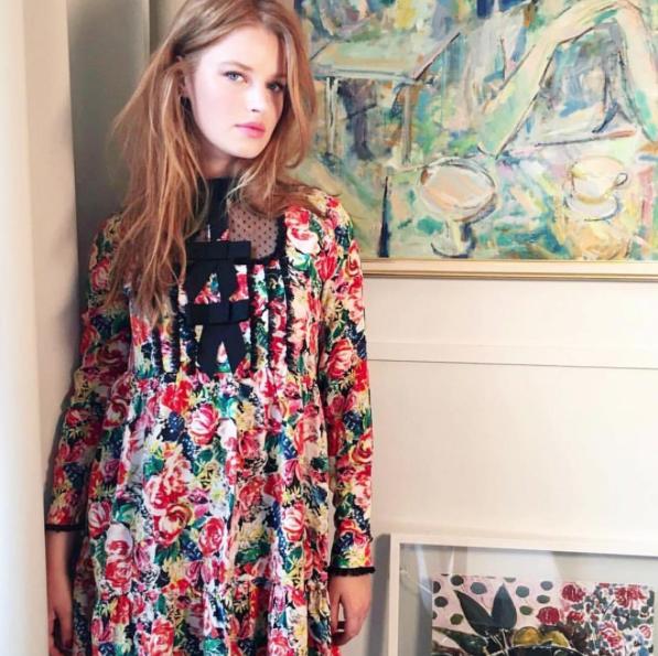 ee165c6f Ganni street style | Helene Hammer | Maple Silk Dress | .M.O.J. . G ...