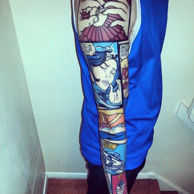 Roy Lichtenstein Tattoo Art Tattoo Pop Art Tattoos Sleeve Tattoos