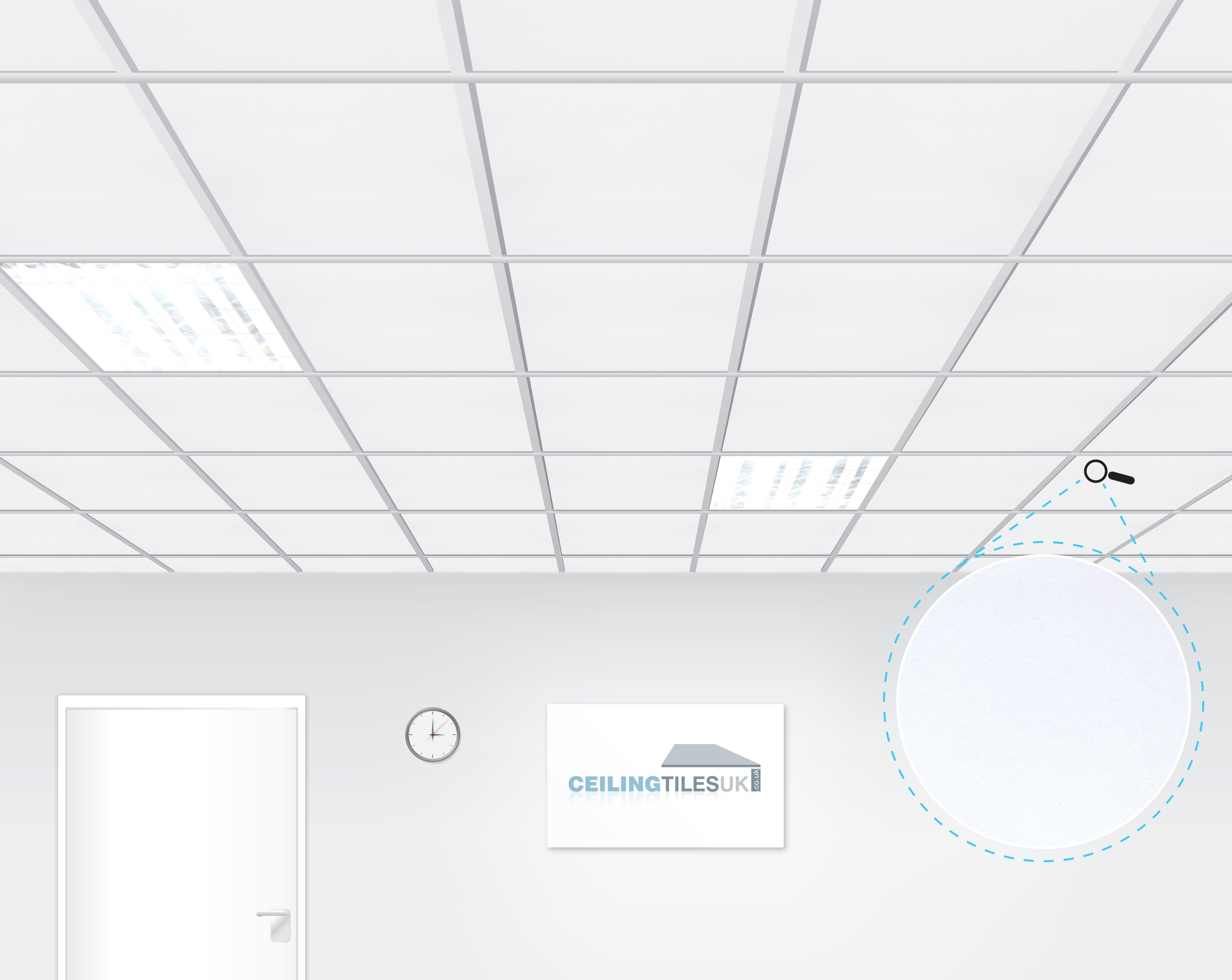 Rockfon Alaska 600x600mm Tegular Suspended Ceiling Ceiling Tiles