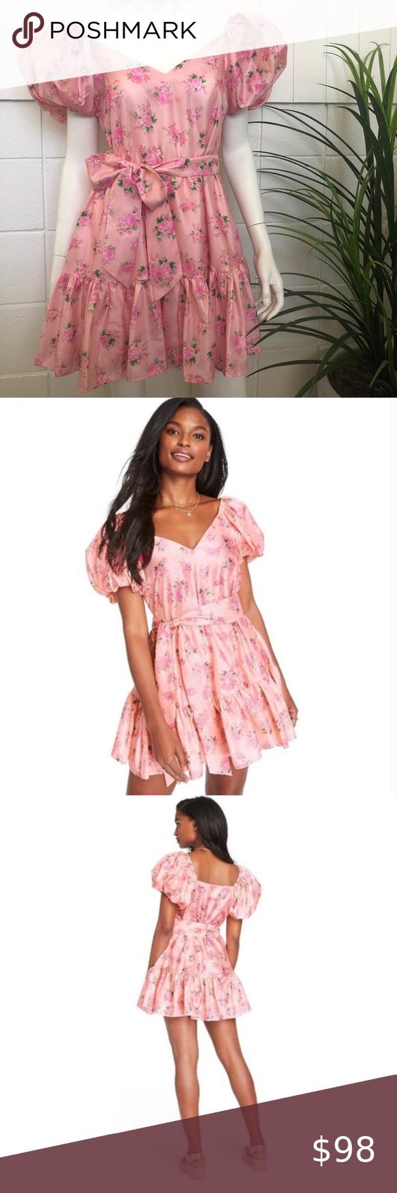 Loveshackfancy X Target Cecile Dress Nwt Pink Mini Dresses Dresses Puff Sleeve Dresses [ 1740 x 580 Pixel ]