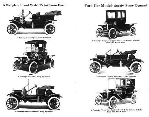 1908 1927 Ford Model T 1911 Full Line Shown The Ford Model T Is