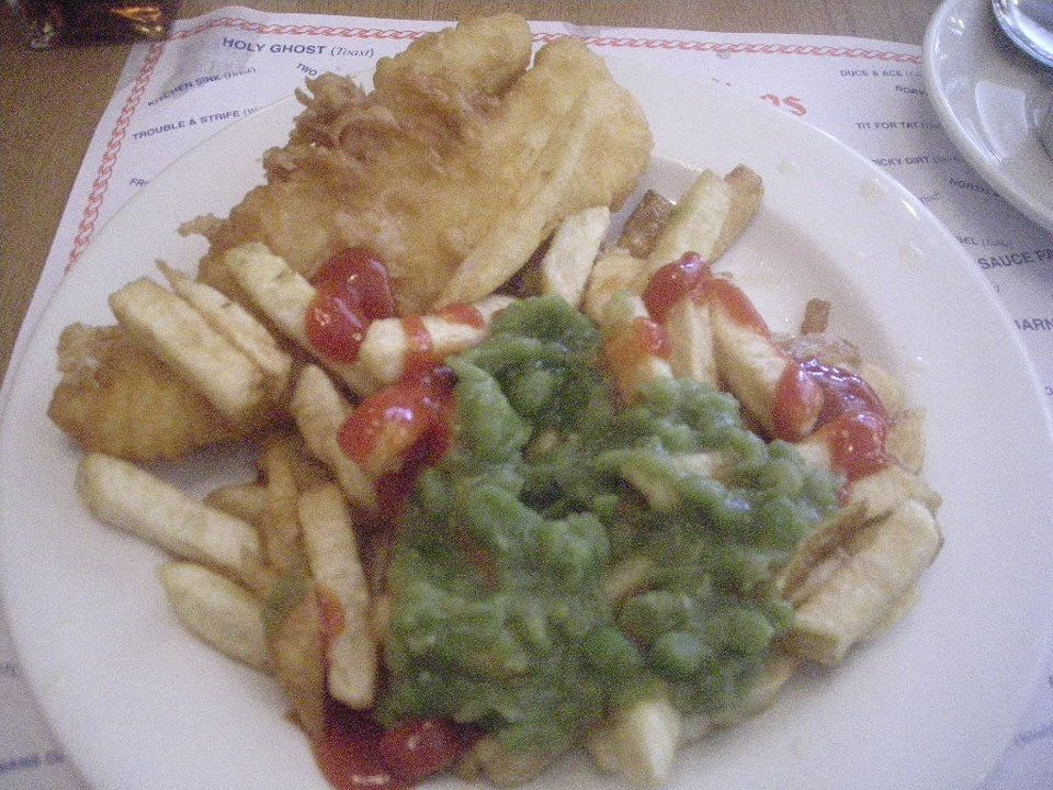 Fish, Chips and mushy peas..