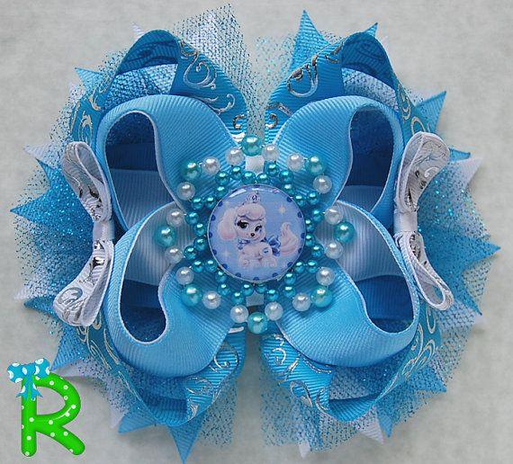 Palace Pets ott bow Disney pumpkin hair bow  by RoshelysBowtique