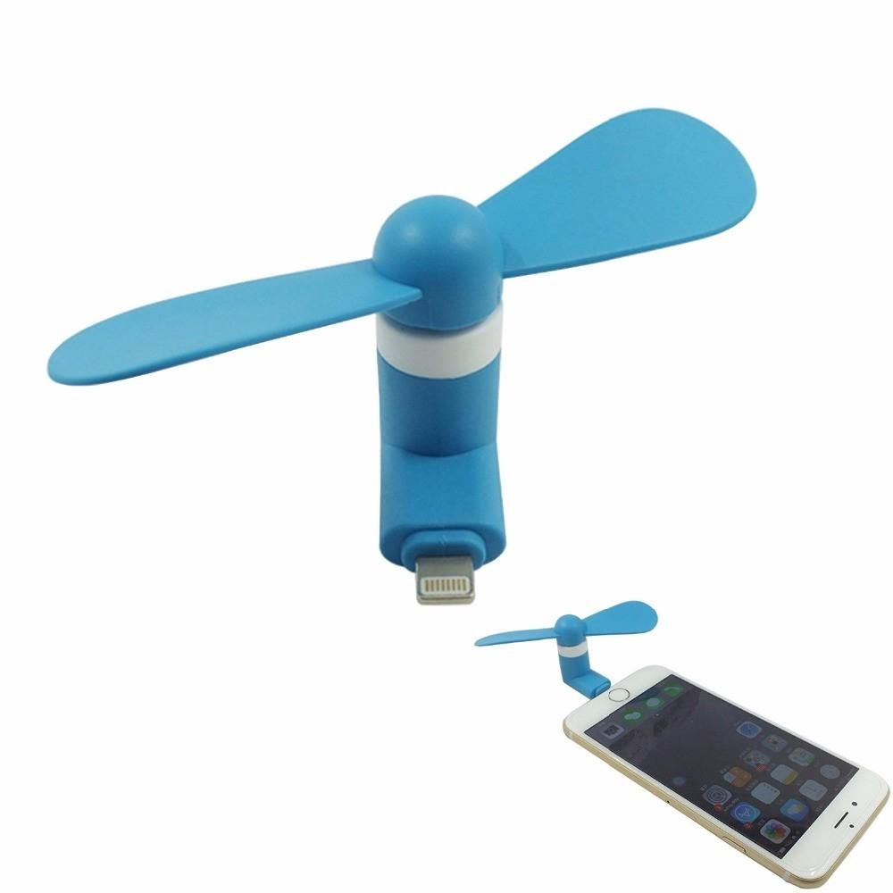 Mini Portable Cooling Fan Ventilator Electronic Gadget PC Cooler for Iphone7 6s 6 5s 5 ipad - Blue