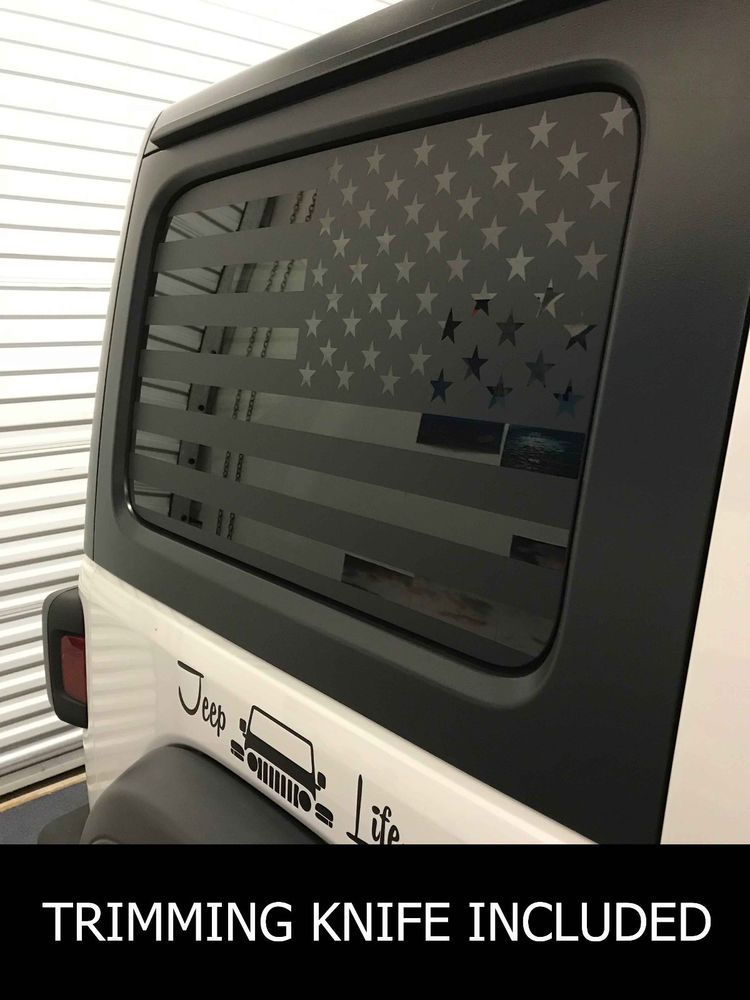 0714 Jeep Hardtop Flag Decal Regular Usa American Wrangler Jlu Jl Vinyl Graphic Orac Jeep Wrangler Accessories Decals Jeep Wrangler Accessories Jeep Stickers
