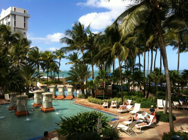 The San Juan Marriott Resort Stellaris Has Great Recently Updated Rooms Right On Beach In S Bustling Condado Area