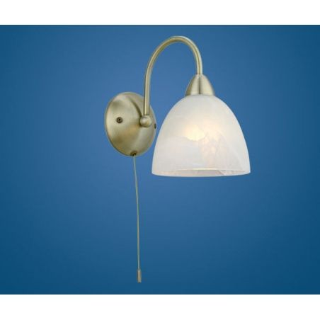 Eglo 89895 dionis 1 light traditional wall light bronze finish with an alabaster glass shade