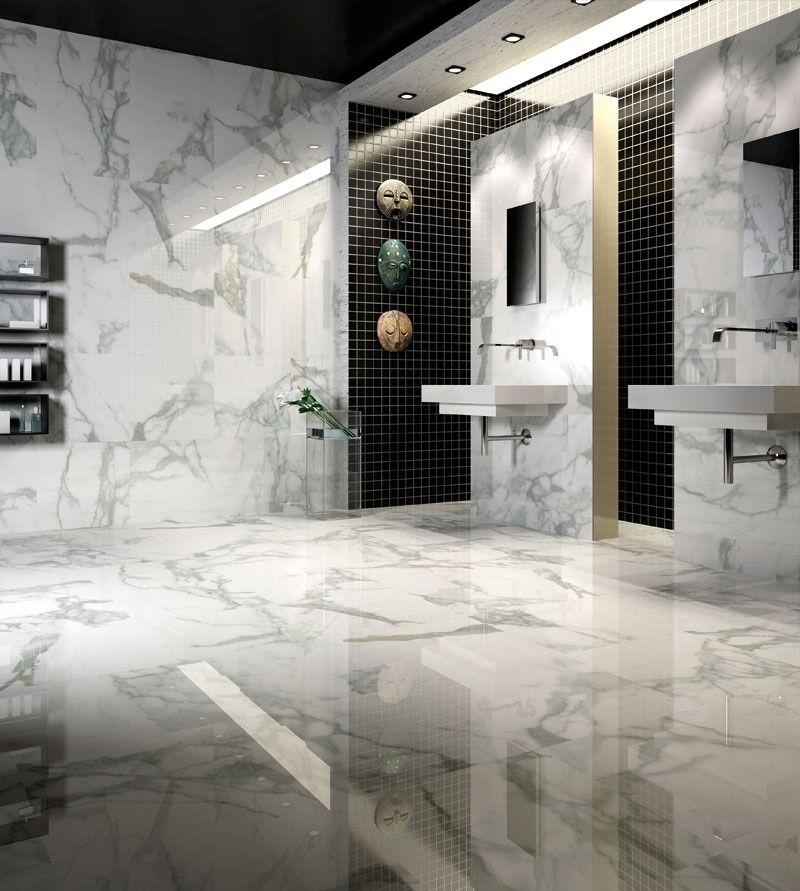 Porcelanato m rmol calacata 80x80 1era calidad rectificado for Banos color marmol