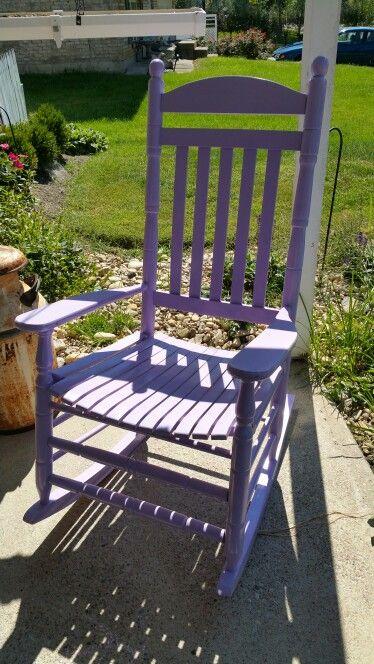 Purple rocking chair