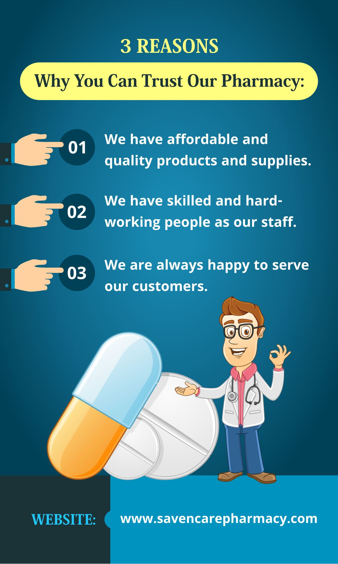 3 REASONS Why You Can Trust Our Pharmacy trustourpharmacy