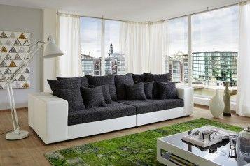 Wohlfühl-couch In Schwarz / Weiß. Das Wohnzimmer Sofa Giga In ... Wohnzimmer Couch Schwarz
