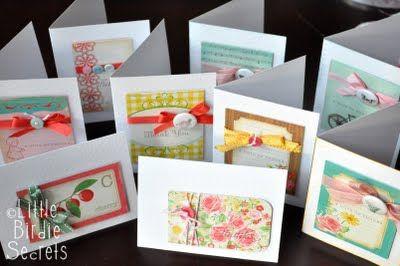 Card making ideas.  :-)