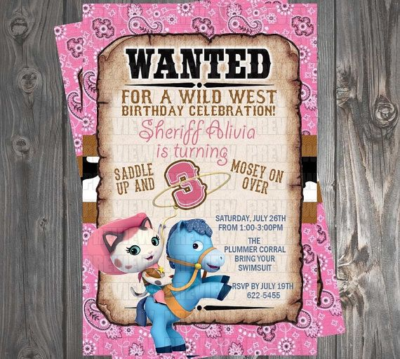 Sheriff Callie Birthday Plates