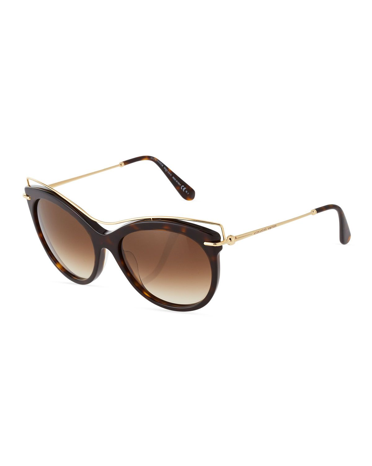 043bfd3e2c9 Alexander McQueen Acetatae   Metal Modified Cat-Eye Sunglasses