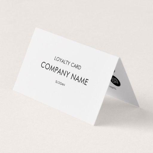 Loyalty Modern Minimalist Black And White Business Card Zazzle Com White Business Card Coffee Shop Business Card Hairstylist Business Cards