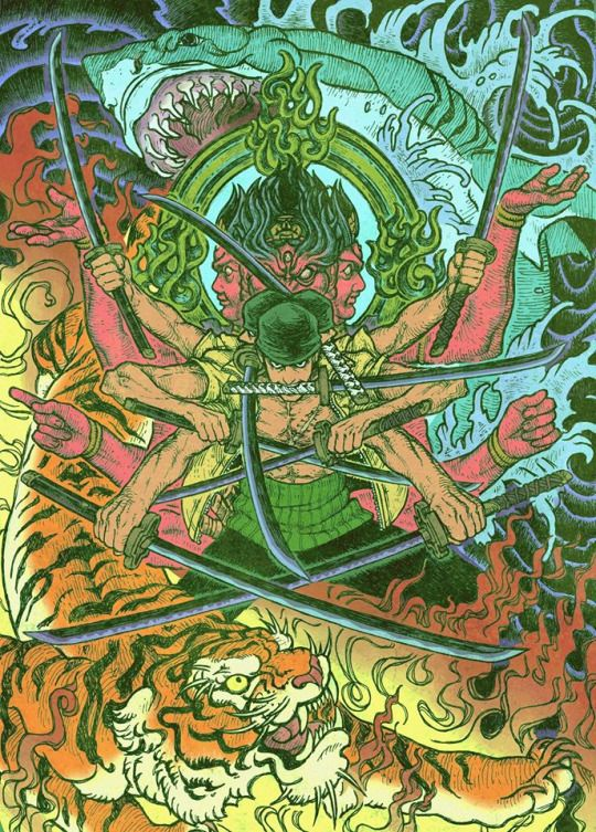 #Roronoa #Zoro #onepiece Would be a great Tattoo!!!