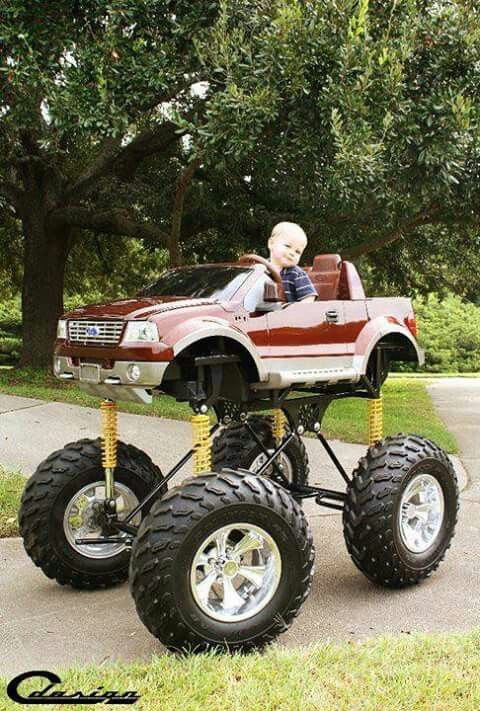 Monster Truck For Kids Lifted Chevy Kid Stuff Pedal