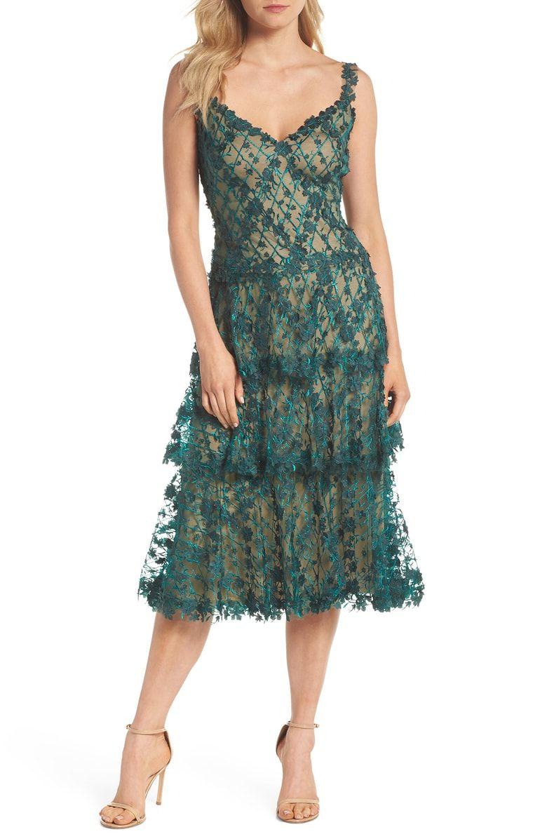 Tadashi Shoji 3d Floral Midi Dress Nordstrom Black Lace Midi Dress Lace Midi Dress Dresses [ 1196 x 780 Pixel ]