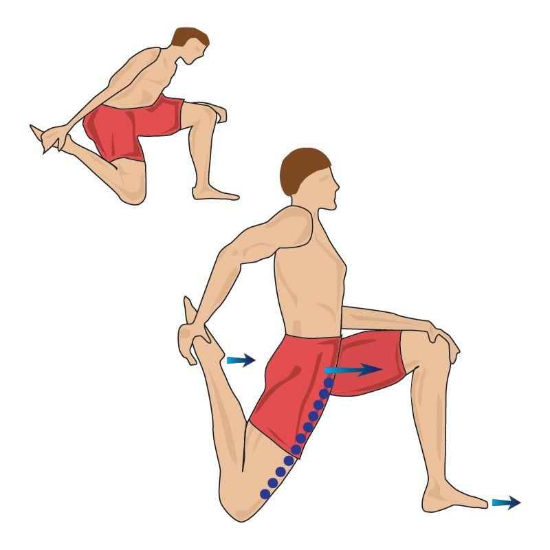 Quadriceps kneeling stretch - how to stretch out your quads ...